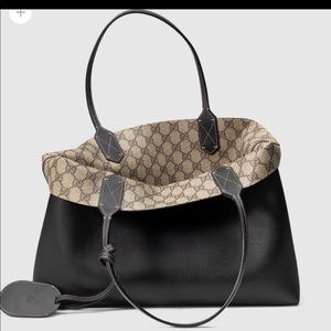 Gucci Leather Reversible Carryall Purse Tote